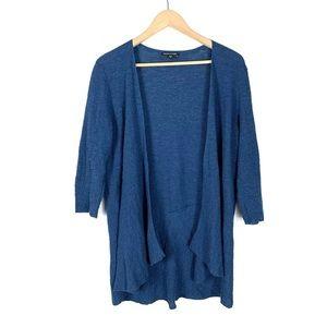 Eileen Fisher Cardigan Blue 100% Wool Medium